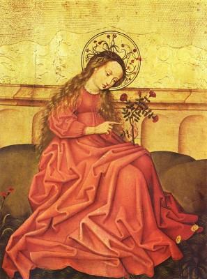 Vierge_au_jardinet_Maître_rhénan_anonyme_Musée_de_lOeuvre_Notre-Dame 01/01/2016, Bonne année 2016, Que Jésus nous purifies nos âmes par la joie!