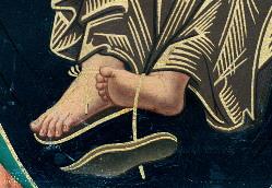 evangile-sandale 02/01/2016 Jean 1,19-28 : Je ne suis pas digne de délier la courroie de sa sandale.