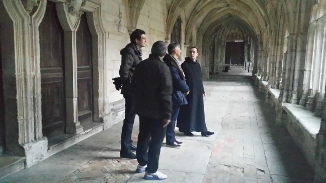 visite-abbaye-saint-wandrille Compte rendu de la retraite à l'abbaye Saint-Wandrille de Fontenelle