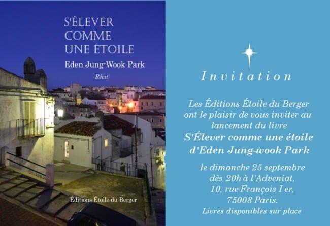Invitation-20h-dimsept25-Editions-Etoile-du-Berger Soirée lancement des Editions Etoile du Berger