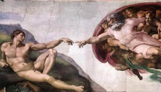 chapelle-sixtine-plafond Par sa Parole toute-puissante, le Père a créé et maintient toutes choses.