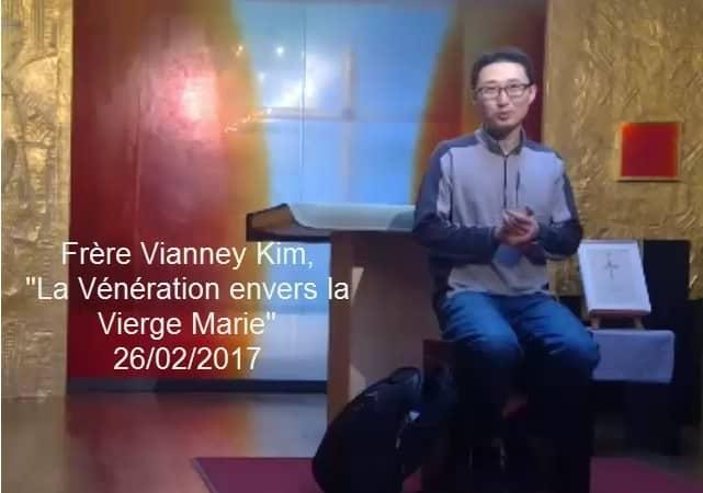 """Frère sud coréen Vianney Kim, """"La vénération envers la Vierge Marie"""""""