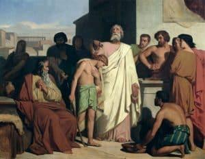 Felix-Joseph_Barrias SAMUEL CONFÈRE L'ONCTION ROYALE À DAVID.