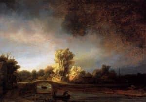 Rembrandt_-_Landscape_with_a_Stone_Bridge La Solitude bénie