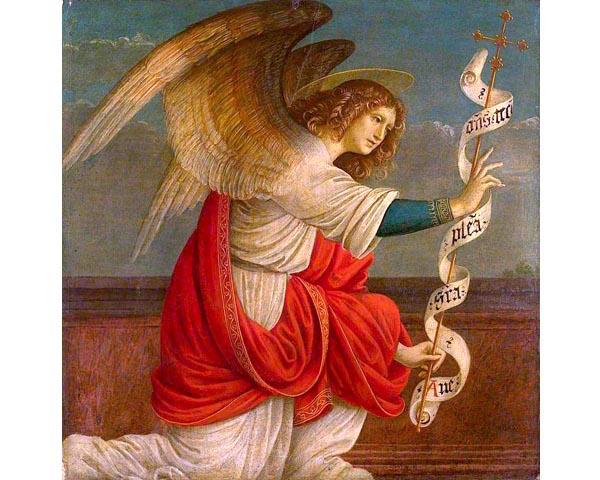 Gaudenzio-Ferrari-LAnge-Gabriel-avant-1511-Londres-National-Gallery Viviane, l'Ange Gabriel et mon parcours de Lyon jusqu'à Terre Sainte