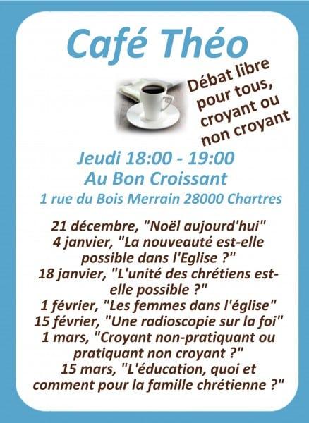CAFE-THEO-AFFICHE Café Théo : «La nouveauté est-elle possible dans l'Eglise ?» au Bon Croissant
