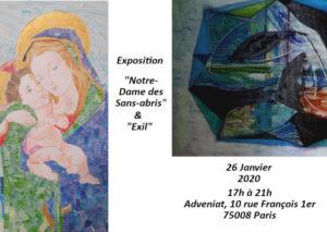 Invitation-Expo-ND-EXIL-1 Dimanche 26 Janvier 2020 à 17h00 Exposition «Notre-Dame des Sans-abris» à Adveniat 75008 Paris
